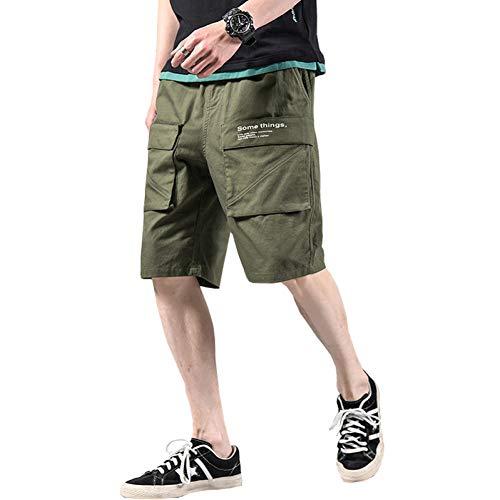 Short Harem Cargo Short Homme d'été Mode Été Hommes Cargo Shorts Hommes Lâche Multi Poche Shorts Décontractés Lâche Baggy Pantalon Drop Shipping Pantalons