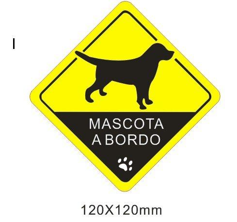 Pegatina vinilo impreso para coche, pared, puerta, nevera, carpeta, etc. mascota a bordo