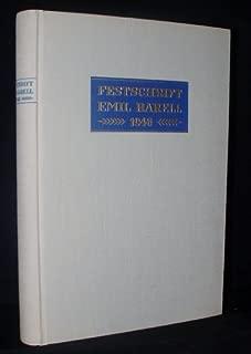 Festschrift Emil Barell 1946