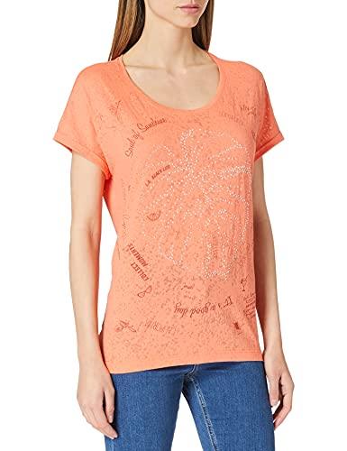 Cecil Damen 316339 T-Shirt, Burn Out Fresh Coral, XXL