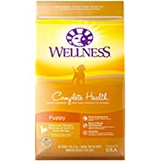 Wellness Natural Pet Food Complete Health Natural Dry Puppy Food, Chicken, Salmon & Oatmeal, 5-Pound Bag