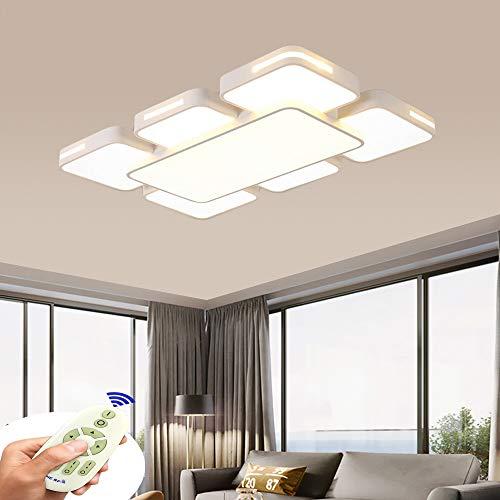 BRIFO 78W Lampada da soffitto a LED blanco dimmerabile, plafoniera per hall, soggiorno, cucina, ufficio, lampada moderna a risparmio energetico, dimmerabile (3000-6500K) con telecomando (78)