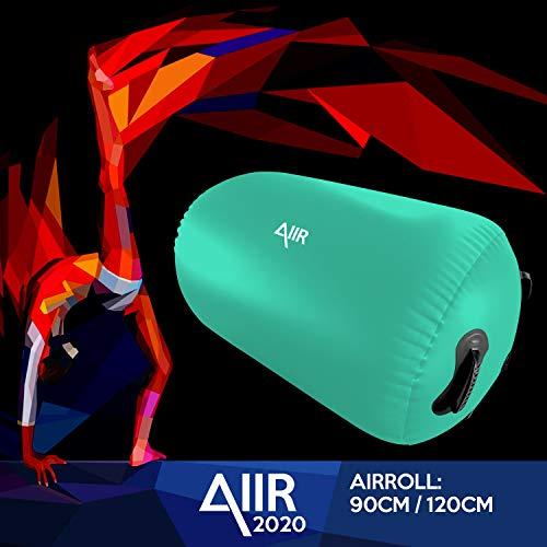 AIIR AirRoll 90x120cm | Aufblasbare Luft Rollen für Tricks und Gymnastik | Innen- und Außeneinsatz| Aufblasbar | Gym Air Barrel