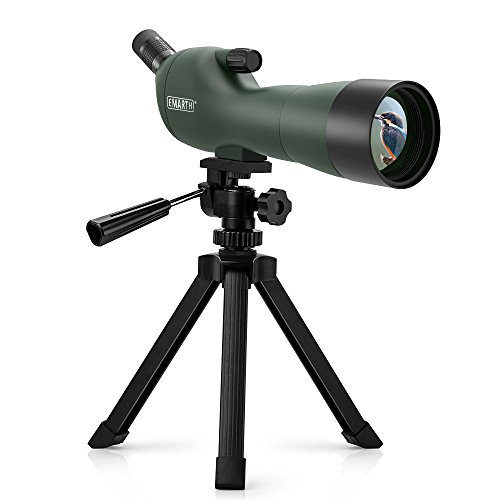 Emarth 20-60x60AE Waterproof Angled Spotting Scope with Tripod, 45-Degree Angled...