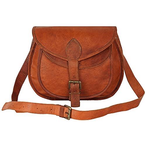 Wellbourne cuero crossbody casual tote bag para mujeres con correa de hombro ajustable - 11inches.