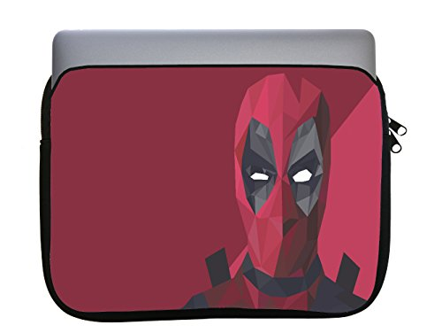 Polygon Comic Book Hero Design 11x14 inch Neoprene Zippered Laptop Sleeve Bag by egeek amz for MacBook or Any Other Laptop