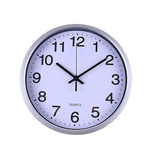 ZYUEER Horloge Murale Geante, Horloge De Bureau Vintage Pas Cher (argenté)