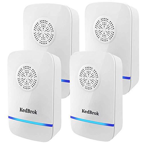 KedBrok Antizanzare Ultrasuoni 4 Pack, Ultrasuoni per Topi Elettrico Repellente ad Ultrasuoni...