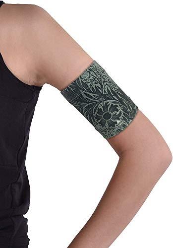 Dia-Band Schutzband für Glukosesensor Freestyle Libre, Medtronic, Dexcom und Omnipod | Komfortables Gewebeband für Diabetiker (M (27-31cm))