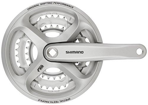 Shimano FC-M171 - Platos y bielas - 48/38/28, con cubreplato (Trekking) Plateado Longitud de biela 170 mm 2016