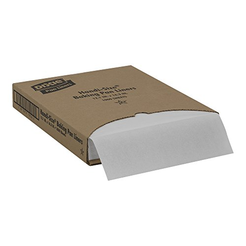 Dixie Grease-Proof Non-Stick Pan Liner by GP PRO (Georgia-Pacific), White, HS1000, 16.38'' Length x 12.19' Width, (Case of 1,000)