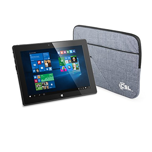 CSL Panther Tab 10 USB 3.1 inkl. Windows 10 Home & Tasche - 10.1 Zoll (25,6 cm) Tablet, Intel QuadCore CPU 4X 1920 MHz Intel Burst Frequenz, 4GB RAM, 64GB eMMC, WLAN, Bluetooth