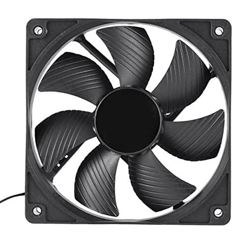 Crazyfly Ventilador controlado por temperatura del silencio PWM del 12cm, ventilador refrigerado por agua del ordenador del gabinete para la minería de Bitcoin
