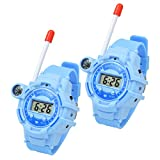 Uong Walkie Talkie for Kids, Two-Way Rechargeable Watch Walkie-Talkies with Flashlight and Compass