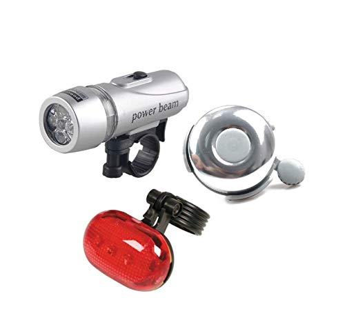 Ducomi® Power Beam–Juego de faros delantero y trasero para bicicleta, de LED–Luz...