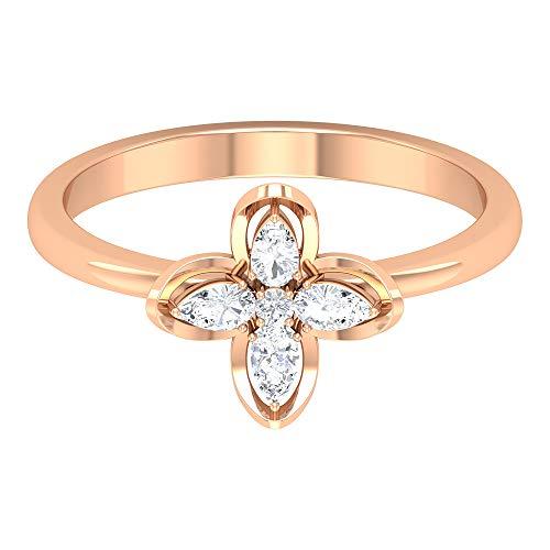 Rosec Jewels 14 quilates oro rosa round-brilliant-shape pear-shape H-I Diamond