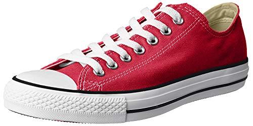 Converse Unisex Chuck Taylor All Star Low Top Red Sneakers - 8.5 D(M)
