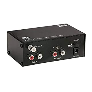 Risposta in frequenza: 20Hz-20kHz RIAA Ingressi: RCA Uscite: RCA Sensibilità di ingresso: 3mV per uscita da 1000mV Impedenza di ingresso: 47kohmios
