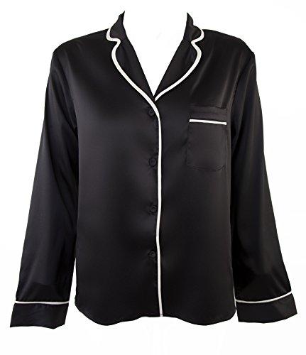 Speelse beloften Womens dames zwart roken pak pyjama nachtkleding Set
