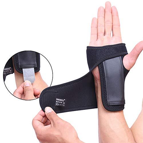 Muñequera para mano izquierda o derecha para túnel carpiano, férula de muñeca extraíble para tendinitis, soporte para el pulgar por síndrome del ratón y lesiones deportivas (1unidad), Right hand