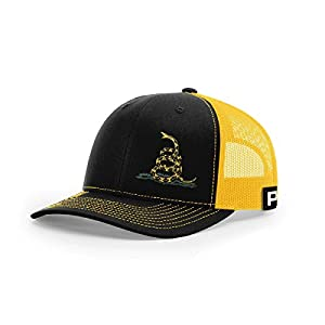 Printed Kicks Don't Tread on Me Lower Left Traditional Back Mesh Hat Gadsden Snake Flag Cap