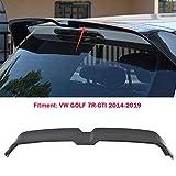 ACEOLT Aile supérieure de voiture Spoiler Aileron Arrière Becquets Arrière pour Volkswagen/VW GOLF 7/7.5 VII 7R-GTI 2014-2019, Conception en fibre de carbone ABS