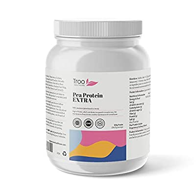 Pea Protein EXTRA 500g - Vegan Protein Powder Fortified With 9 EXTRA Superfood Nutrients by Troo Health Care