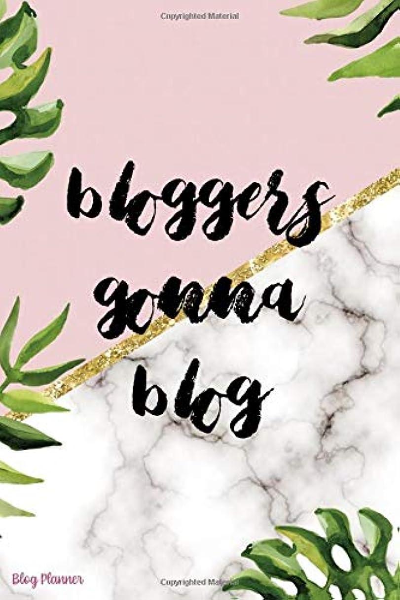食用初期前進Bloggers Gonna Blog: Blog Planner Notebook Journal Composition Blank Lined Diary Notepad 120 Pages Paperback Leaves