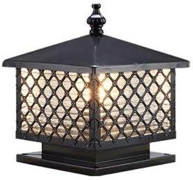 ZZYJYALG Black Modern Elegant Post Lamp Professional Waterproof Out IP55 Virginia Beach Mall