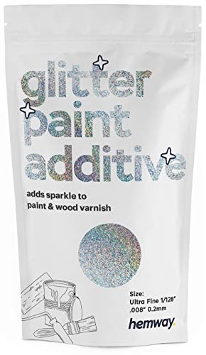 Hemway Glitter Paint Additive 100g / 3.5oz Crystals for...
