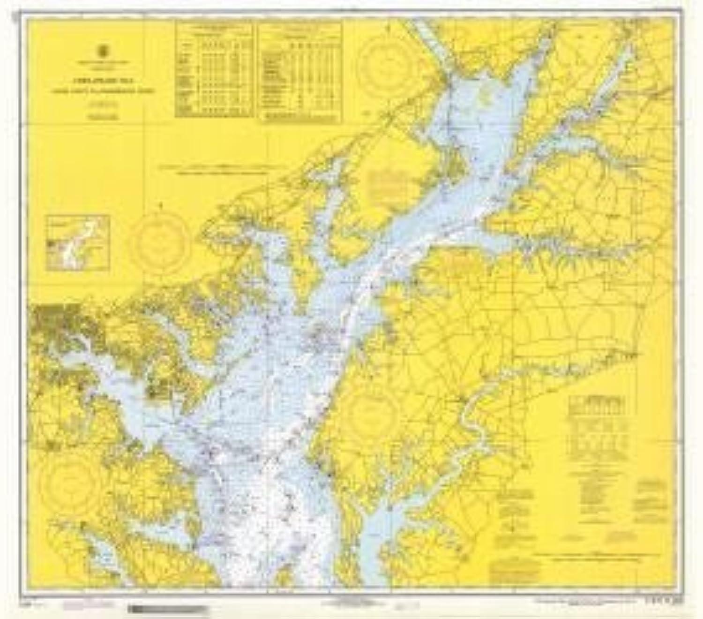 Historische Seekarte 1226–10–1970  MD, Chesapeake Bay Sandy Punkt zu Susquehanna River Jahr 1970von oceangrafix