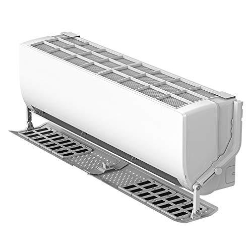 LZL Einstellbare Klimaanlage Abdeckung Windschutzscheibe Klimaanlage Ablenkblech Schild Wind Führer Anti-Windschutzscheibe (Color : White)