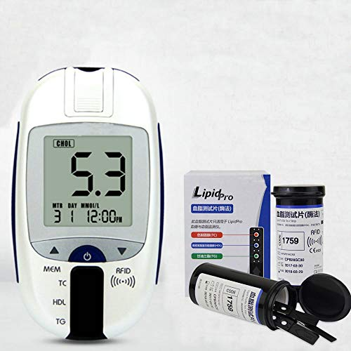 ZJXYYYzj Blutzuckermessgerät 3 in 1 Multifunktions, 5 in 1 Lipid Metern Cholesterin Triglyzeride Glukose-Test-Messinstrument-Monitor High und Low-Density-Lipoprotein-Erkennung