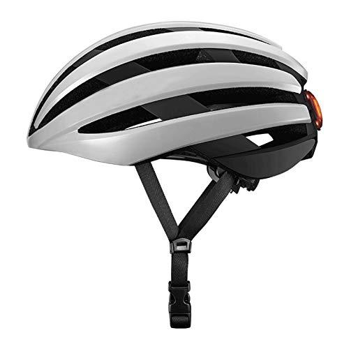 Cascos de bicicletas: bicicletas de una pieza con luces traseras, búferes a prueba de golpes, estilo de ruta por carretera, equipo de ciclismo para hombres y mujeres, adecuados para viajar diarios en