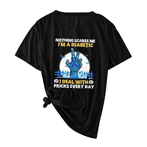 YANFANG Tops Casual Informal Mujer,Camisa de Manga Corta de Moda para Mujer Camiseta Informal con Estampado de Camiseta Deportivo,Fitness,devertidas