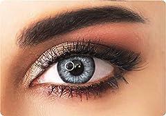 ADORE lentillas de contacto de color BLANCO natural - PEARL WHITE - cobertura media con efecto natural - 90 Días - Sin Graduación + estuche incluido