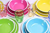 Dinnerware Sets for 4,12 Pcs Melamine Dishes Dinnerware Sets, Picnic Plates and Bowls,Lightweight Dishwasher Safe (Colorful)
