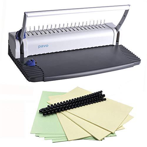 PAVO Bindemaschine Bindegerät SMARTMASTER 2 Bindegerät inkl. 75 tlg. Starterset / Nur für kurze Zeit: Beinhaltet ein 75 teiliges Starterset inkl. Binderücken, Deckblätter und Rückwände