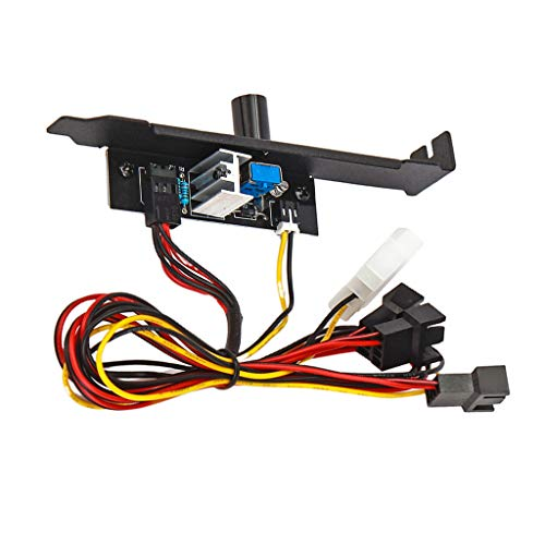 Almencla PCI-Blende Lüftersteuerung, 3 Kanäle PC-Kühler Lüfter-Geschwindigkeitsregler