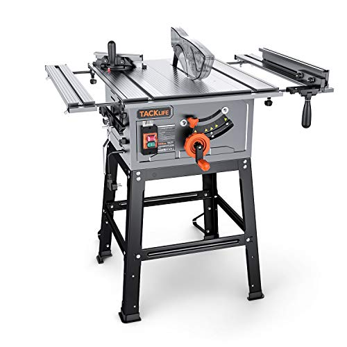 Table Saw, TACKLIFE 10-Inch 15-Amp Table...