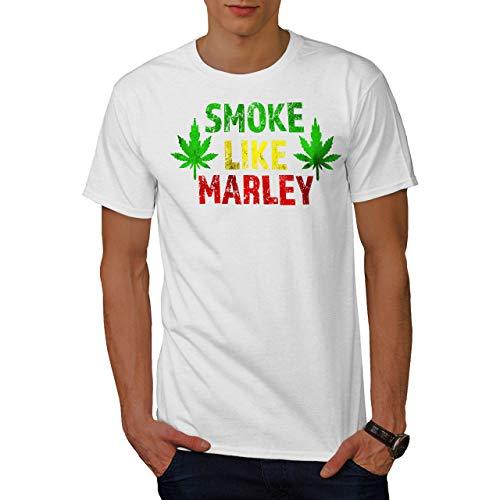 wellcoda Marley Canabis Rauch Männer T-Shirt, Medizinisch Grafikdesign gedruckt Tee