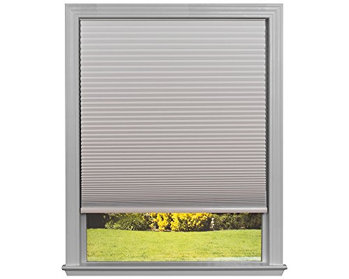 """Easy Lift Trim-at-Home Cordless Cellular Blackout Fabric Shade Natural, 48 in x 64 in, (Fits windows 31""""- 48"""")"""
