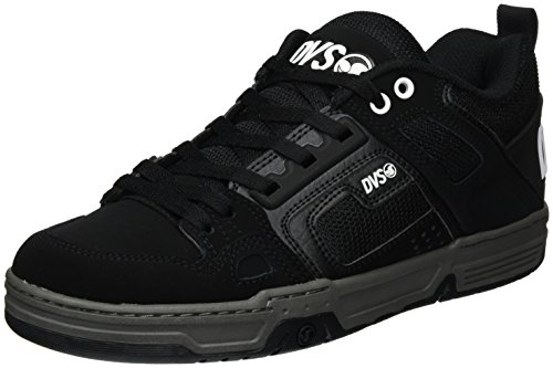DVS APPAREL Herren Comanche Skateboardschuhe, Noir (Black Black Leather Nubuck), 45 EU