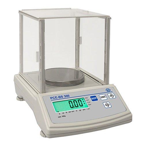 PCE Instruments PCE-BS 300 Analysewaage / Waage / Analyse / Feinwaagen / Laborwaagen / Waagen / hochgenaue, kalibrierfähige Analysenwaage mit verschieden anwählbaren Wägeeinheiten