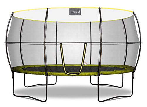 Rebo Oval Base Jump 2 Trampoline With Halo II Enclosure - 10x14FT
