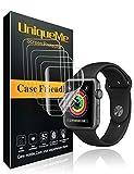 UniqueMe pour [6 pièces] [Case Friendly] Film Protection écran Apple Watch 42mm (Series 3/2/1 Compatible), [Couverture Maximale]...