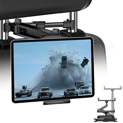 """JPARR Soporte Tablet Coche,Soporte Reposacabezas Automóvil Telescópico Universal,Soporte de Coche Que Puede Giratorio 360 °,Compatible con Smartphone,Tableta,Kindle und Nintendo de 4~11"""""""