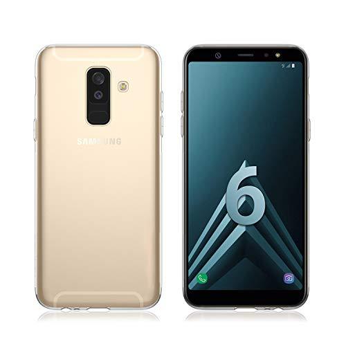 NEW'C Funda para Samsung Galaxy A6 Plus, Anti- Choques y Anti- Arañazos, Silicona TPU, HD Clara