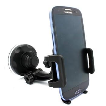 Selna Windshield Car Mount Window Glass Phone Holder Swivel Cradle Dock for Net10 / Straight Talk / Tracfone ZTE Merit - ZTE Midnight - ZTE Savvy - ZTE Valet - ZTE Whirl - ZTE Illustra - ZTE Unico LTE - ZTE Majesty - ZTE Solar