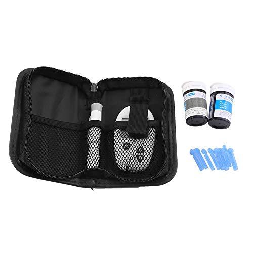 Qinlorgo Kit de medidor de glucosa en Sangre, Kit de Prueba de Diabetes, Kit de Monitor de azúcar en Sangre para el Cuidado de la Salud en el hogar con 50 Tiras reactivas y 50 lancetas